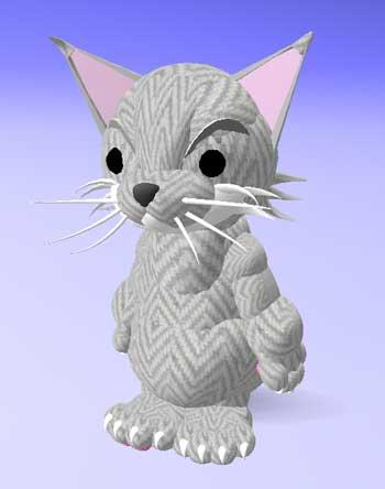 猫アバター:グレー