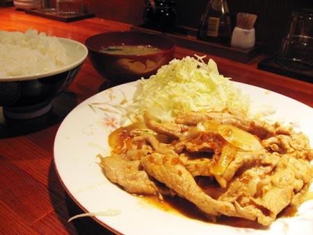 武蔵家 別館 豚の生姜焼き定食