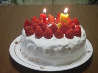 長女の誕生ケーキ