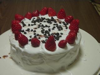 長女のお友達への誕生ケーキ