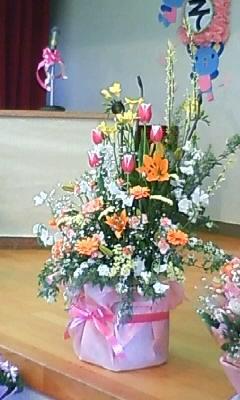 卒園式場のお花