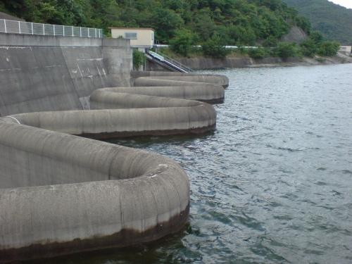 まとまった降雨の後の水位