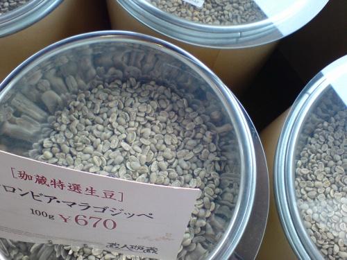 焙煎前の豆