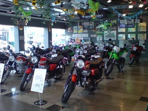 現行バイクプロダクツの展示