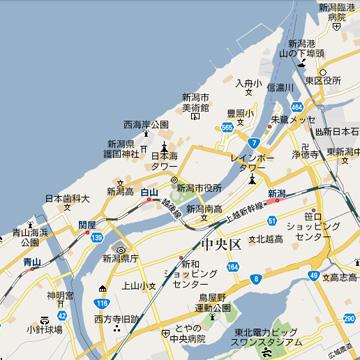 万代島map