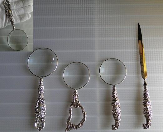 純銀 ルーペ 虫眼鏡