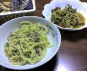 ブロッコリーとツナのペペロンチーノ