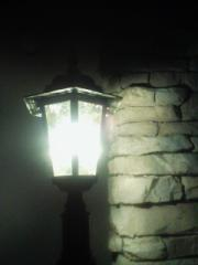 夜のランプ