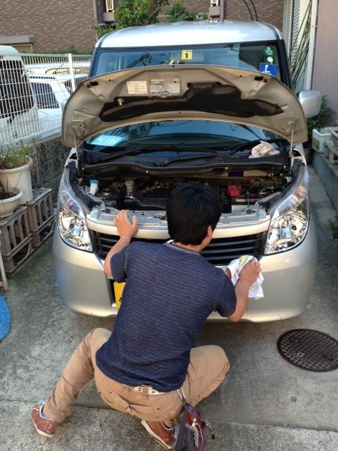 矢倉さん洗車