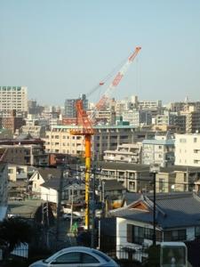 TNCテレビ西日本旧社屋の駐車場に建設中のマンション