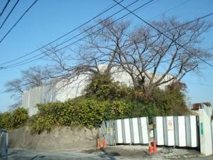 TNCテレビ西日本旧社屋本日の工事現場その1