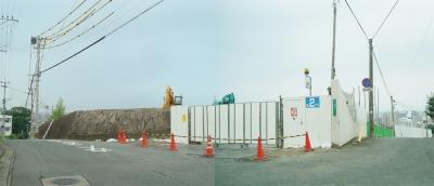 高宮4丁目旧TNC本社社屋解体現場(パークテラス高宮建設予定地)