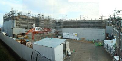 旧TNCテレビ西日本跡地マンション建設現場 パークテラス高宮