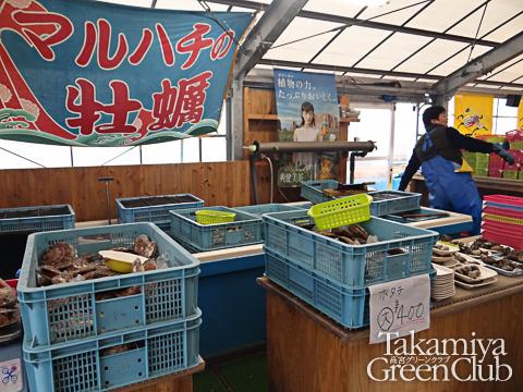 船越漁港牡蠣小屋マルハチ