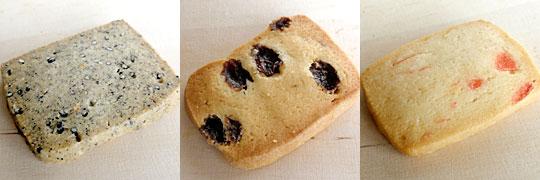 手作りクッキー3種