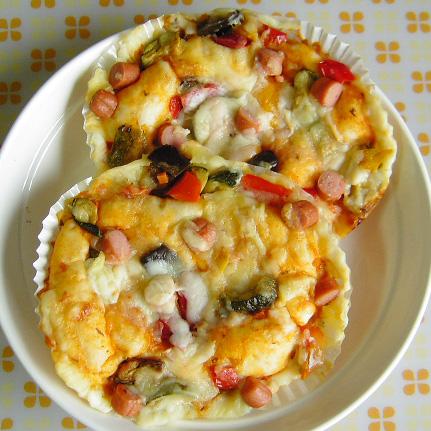 地中海野菜の彩りピザ