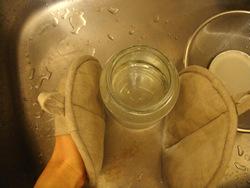 お湯をすてる。