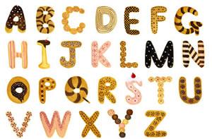 お菓子アルファベット