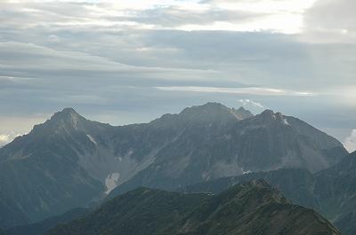 穂高の山並み