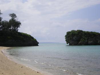 ここの海はきれいでした