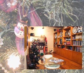 店内もクリスマス