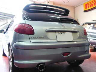 PEUGEOT206.S16 SUPERSPRINTマフラー