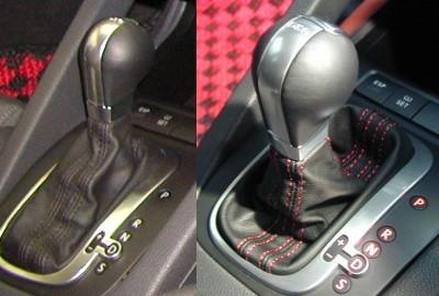 GOLF5 GTI  シフトノブ赤ステッチ