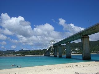 青い空と青い海 これぞ沖縄!