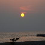 10月9日の夕陽