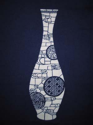 『白薩摩風流水紋型紙』
