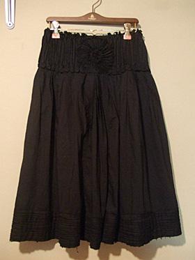 zucca 黒スカート
