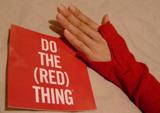 GAP 赤 長袖Tシャツ キャンペーン&袖