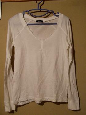 ZUCCA 白 長袖Tシャツ-1