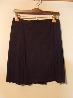 agmes.b 黒 プリーツスカート