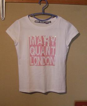 MARY QUANT スパンコールTシャツ