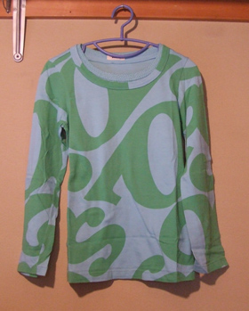 ZUCCA 水色×緑 Tシャツ
