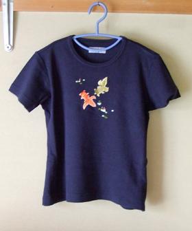 POWDER 紺 Tシャツ(金魚)