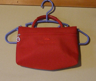 LONGCHAMP 赤 ハンドバッグ