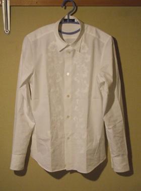 ZUCCA 白 刺繍付きブラウス