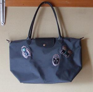 Longchamp ブルーグレー トートバッグ