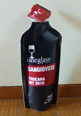 one glass wine