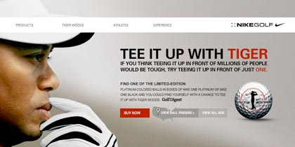 NIKE:Tee It Up With Tiger Woods