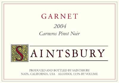 Saintsbury Garnet Carneros Pinot Noir 04
