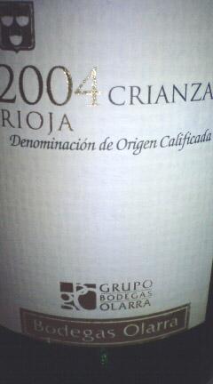 Rioja Crianza 2004