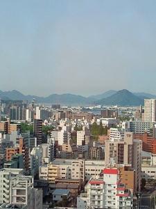 広島・ホテルからの風景