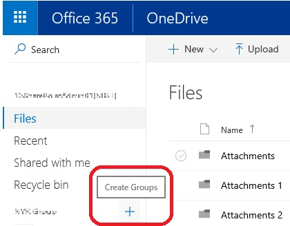 OneDrive Create Groups