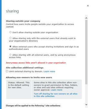 SharePoint External Site