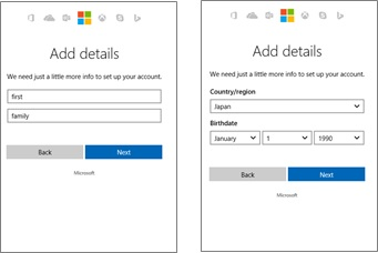 SharePoint create MS Account 2