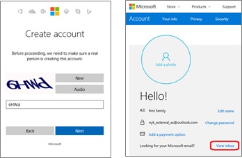 SharePoint create MS Account 3
