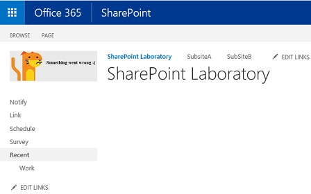 SharePoint Classic Site Logo